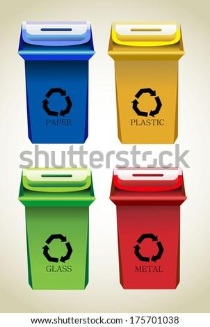 Recycle Bins I - stock vector