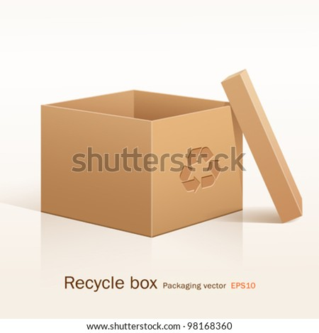 Recycle box, vector illustration - stock vector