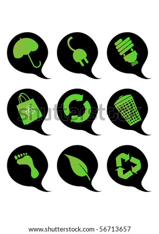 Recycle buttons - stock vector