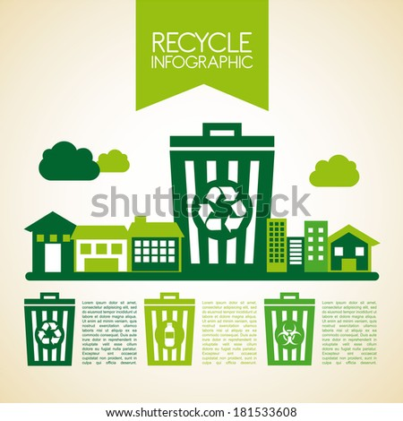 Beige Background Design Recycle Design Over Beige
