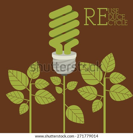 Recycle design over brown background, vector illustration
