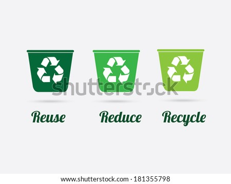 Recycle design over gray background, vector illustration