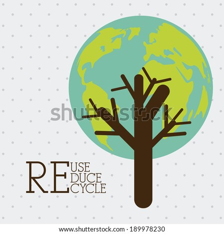 Recycle design over gray background, vector illustration - stock vector