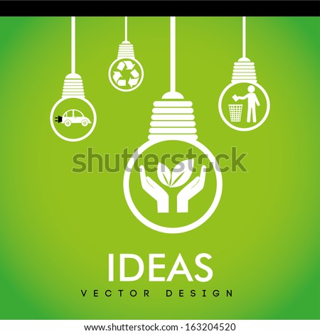 recycle design over green  background vector illustration - stock vector