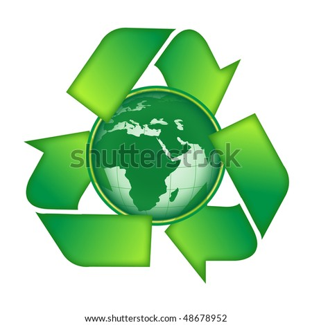 Recycle earth - stock vector