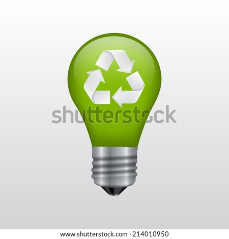 Recycle energy sign. EPS10 vector