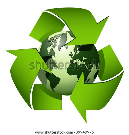 Recycle globe symbol - stock vector