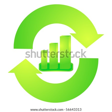 Recycle graph - stock vector
