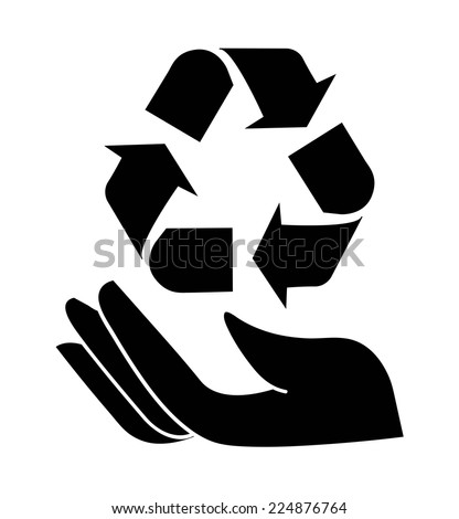 recycle graphic design , vector illustration