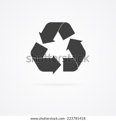 Recycle icon. - stock vector