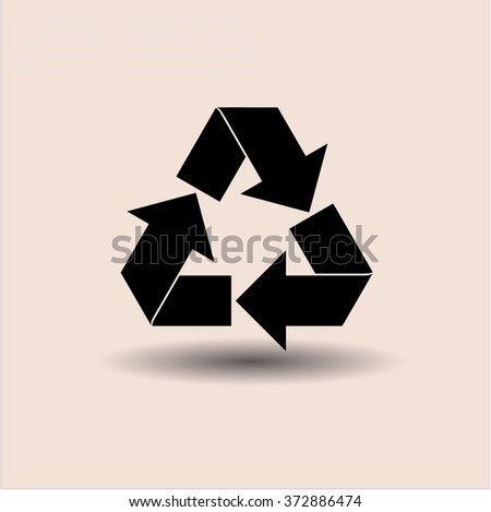 Recycle icon or symbol - stock vector