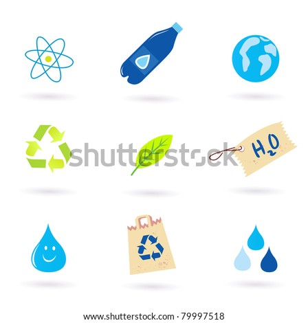 Recycle icons collection, vector Illustration - stock vector