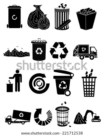 Recycle Icons Set - stock vector