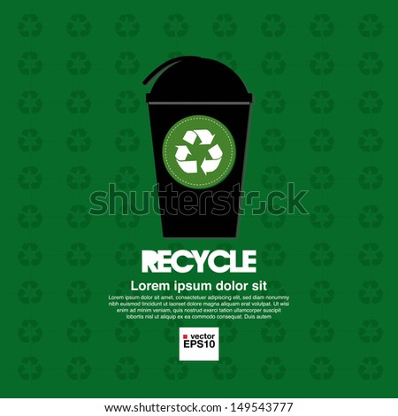 Recycle illustration concept vector.EPS10