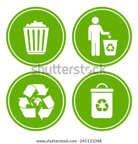 Recycle littering icon - stock vector