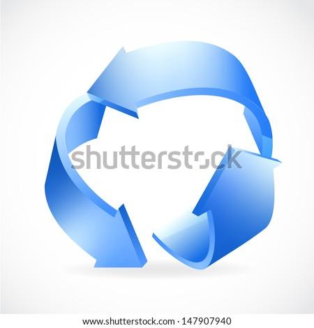 Recycle Logo , eps10, vector - stock vector