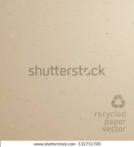 Recycle paper texture - cardboard, realistic vector graphic - stock vector