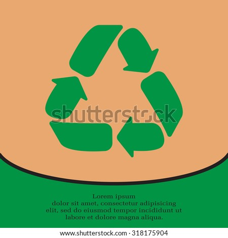 Recycle sign isolated