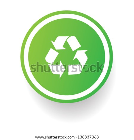 Recycle sign,vector - stock vector