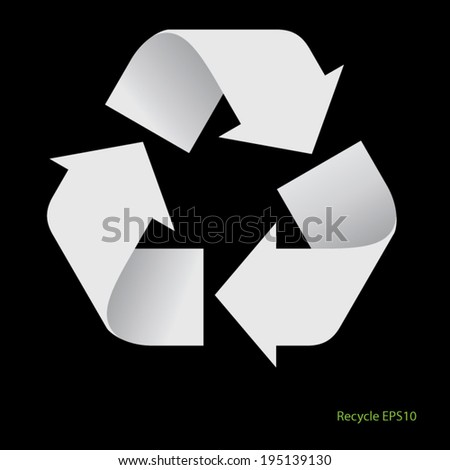 recycle  symbol - stock vector