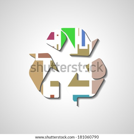 Recycle Symbol, abstract style illustration, for eco environments.