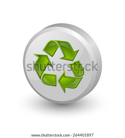 Recycle symbol icon isolated on white background