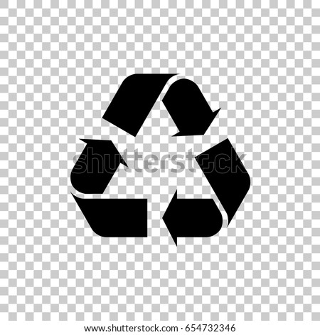 Recycle Symbol Isolated On Transparent Background Stock Vector