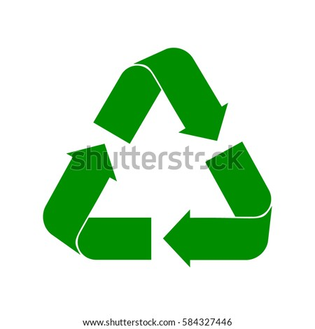 Recycle Symbol Vector Green Cycle On Stock Vector Royalty Free