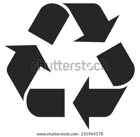recycle symbol - vector illustration fully editable, you can change form and color - stock vector