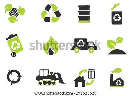 Recycle Symbols - stock vector