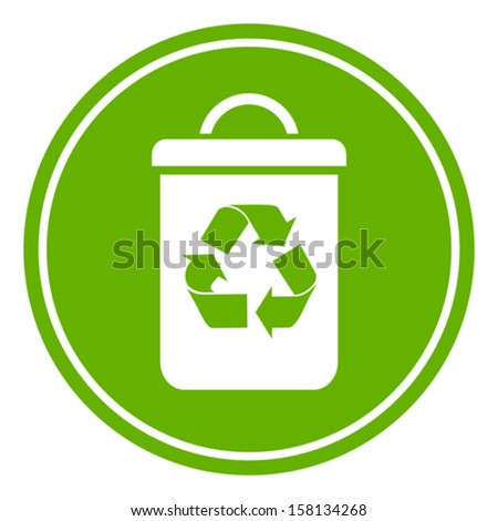 Recycle waste bin - stock vector