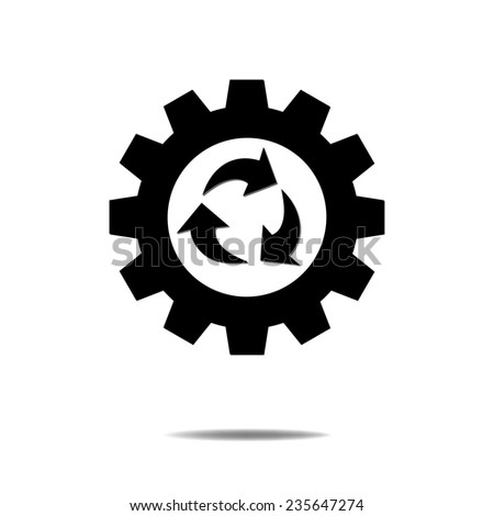 Recycle with Gear - stock vector