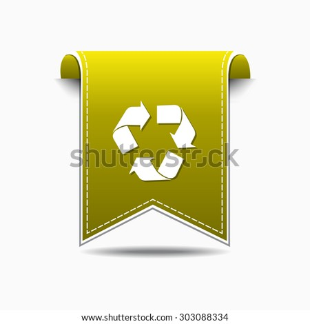 Recycle Yellow Vector Icon Design