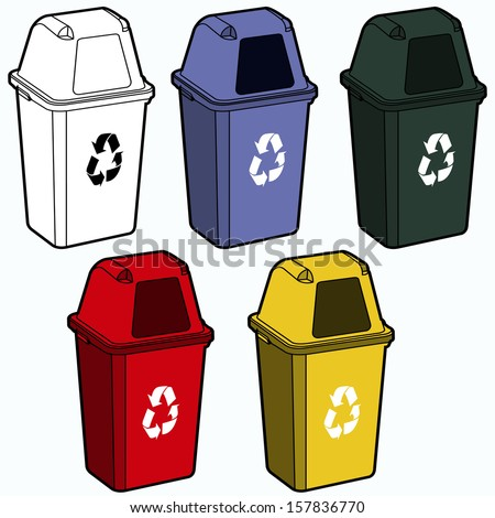 Recycling Bin Vector