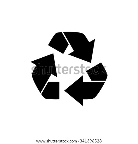 Recycling  - black vector icon