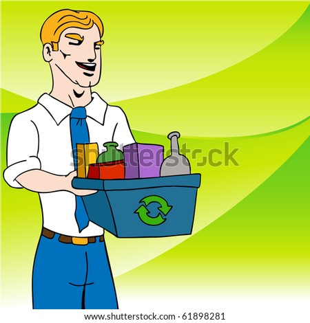 Recycling Businessman
