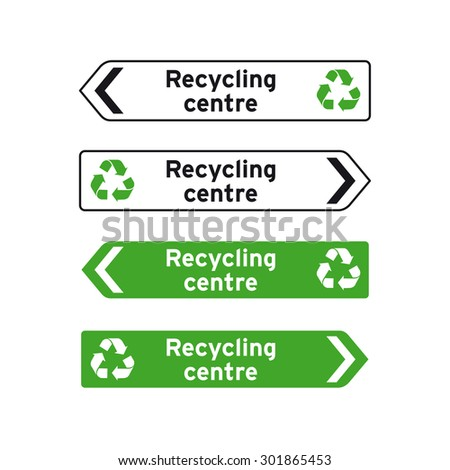 Recycling center stock images royalty free images for Household waste recycling centre design