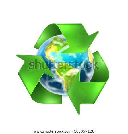 Recycling Earth, vector - stock vector