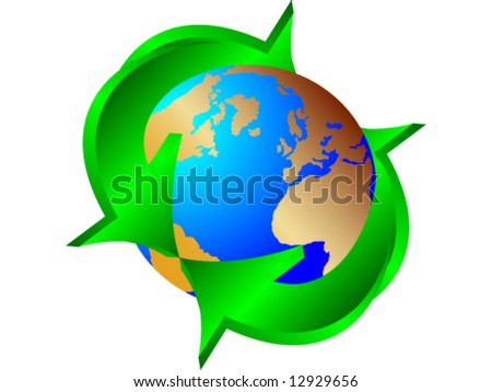 Recycling earth - vector illustration