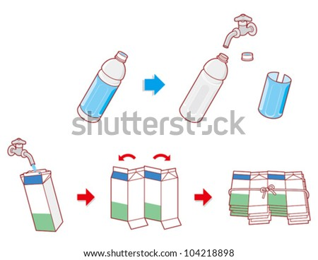 Recycling / Garbage - stock vector