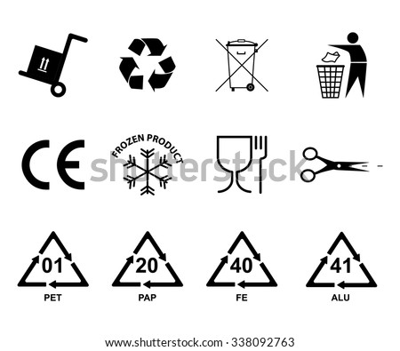Recycling Icon Recycling Plastic Aluminum Iron Stock Vector