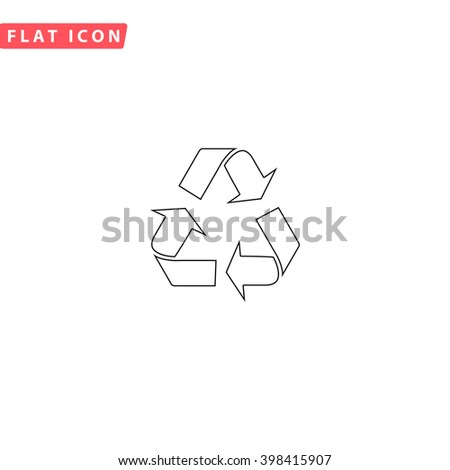 Recycling Icon Vector.