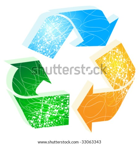 recycling icon vector illustration - stock vector
