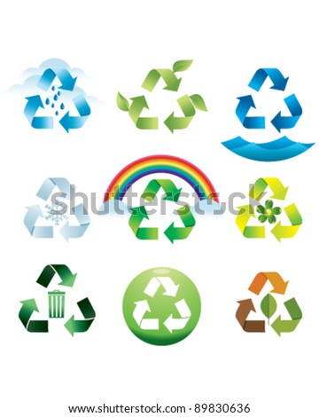Recycling Icons - stock vector