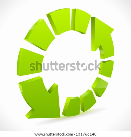 Recycling icons isolated on white - stock vector