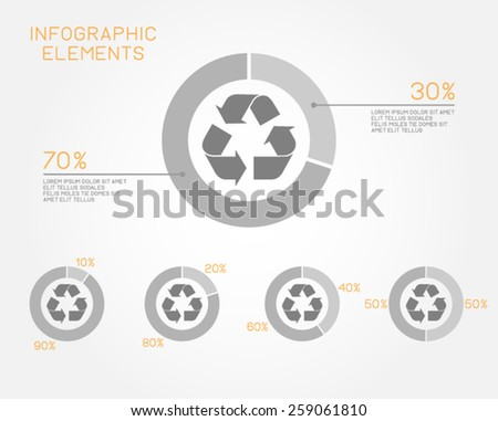 recycling infographic elements environmental ecology vector template - stock vector