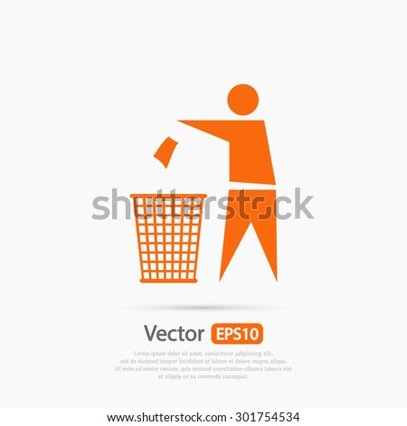 Recycling Sign Label  icon, vector illustration. Flat design style - stock vector
