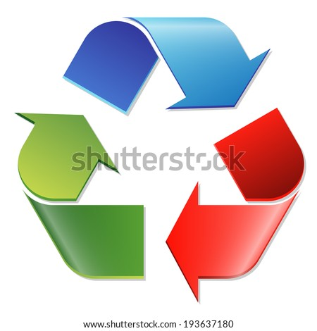 Recycling symbol colored - stock vector