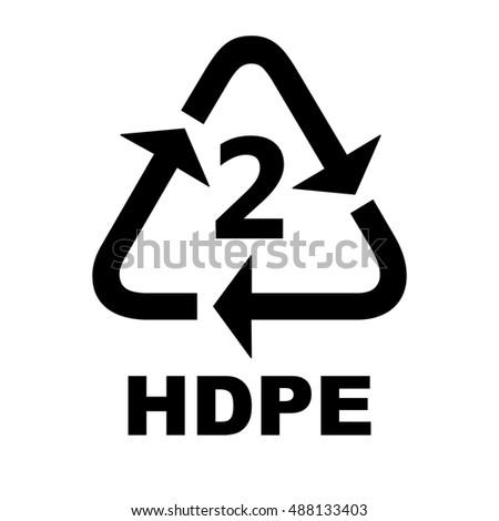 Recycling Symbols Plastic Stock Vector 488133403 Shutterstock