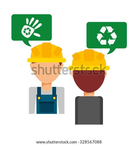 recycling transport design, vector illustration eps10 graphic  - stock vector
